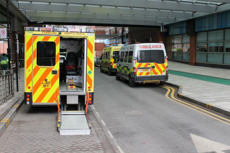 Ambulances at Stepney Way entrance