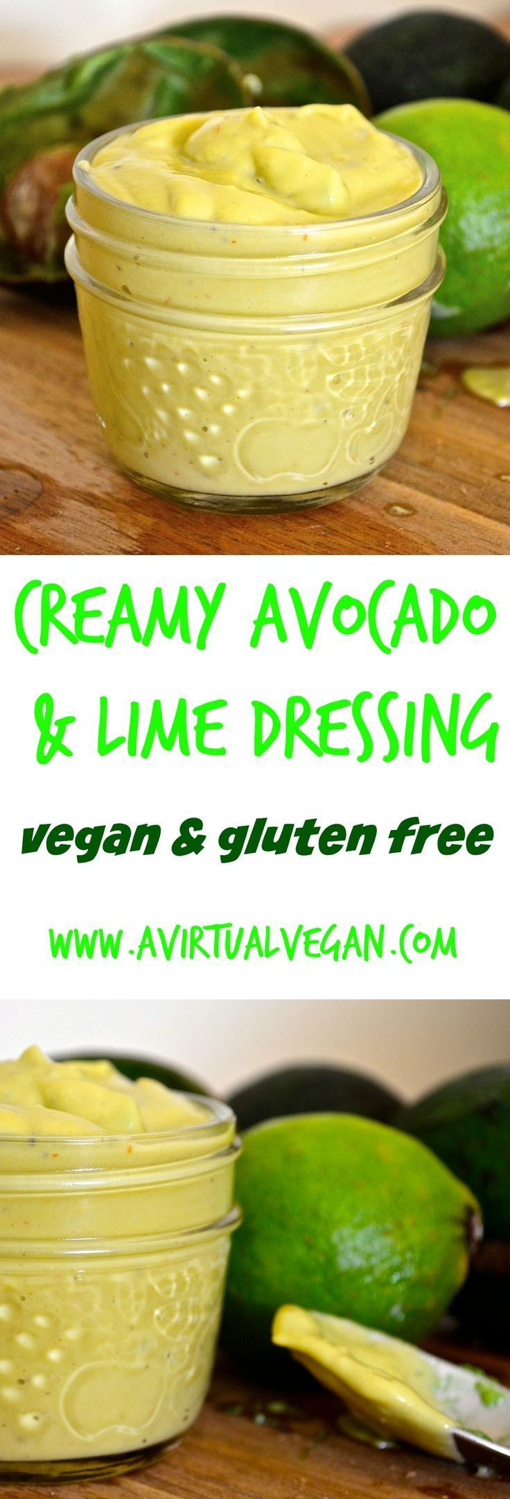 This Creamy Avocado & Lime Dressing is incredibly delicious and very versatile. It can be made as thick or thin as you like to suit whatever you are serving it with. Add some extra liquid to it and it becomes an amazing salad dressing or vinaigrette which