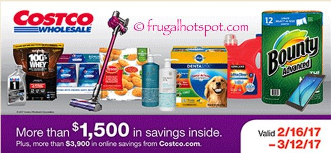 Costco Coupon Book: February 16, 2017 – March 12, 2017. Prices Listed. #Costco #FrugalHotspot