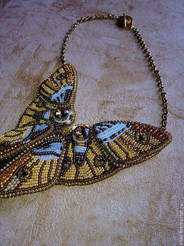 Купить Бабочки - золотой, оранжевый, теплые оттенки, золотистое, на выпускной, на свадьбу, на День рождения, на вечеринку