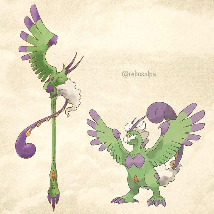 No. 641 - Tornadus (Therian). #pokemon #tornadus #staff #pokeapon