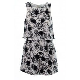Erin Circle Print Overlay Playsuit Black And White BUY IT NOW £17.00 AT www.fuchia.co.uk