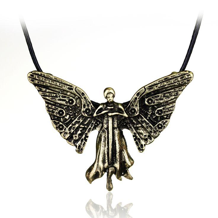 Vintage Jewelry The Mortal Instruments City Of Bones Necklace Clockwork Angel Pendant necklace Women Men Leather Chain Colar