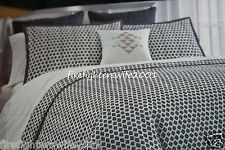 Nate Berkus Bedding | Nate Berkus Diamond Checkered F/Q Duvet Cover Set 3 pc Full Queen Navy ...