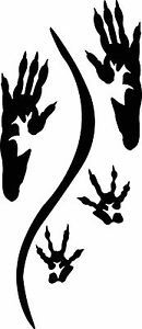 Rat track / footprint sticker / paw prints with tail drag decal
