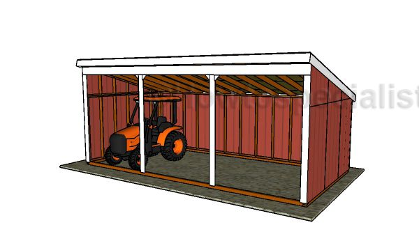 Free Loafing Shed Plans