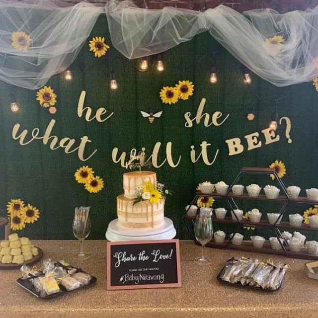 He Or She What Will It Bee Banner With Bee And Beehive Etsy In