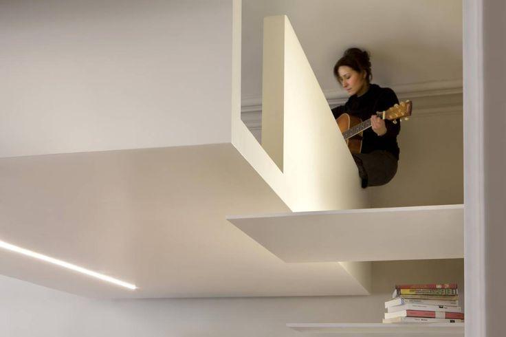 Oltre 25 fantastiche idee su soppalco camera da letto su - Monolocale con letto a soppalco ...