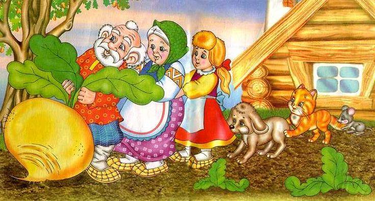 Könyvet olvas (Répa). Orosz tündérmese. Oldal # 1