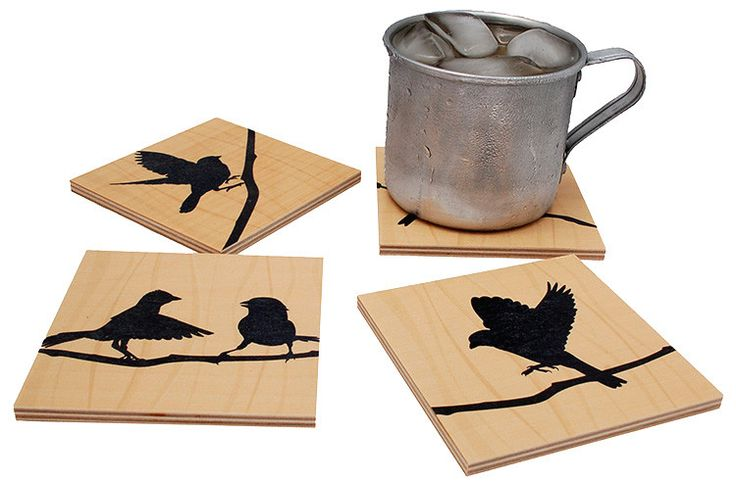 Flox 'Birds of a Feather' Wooden Coasters