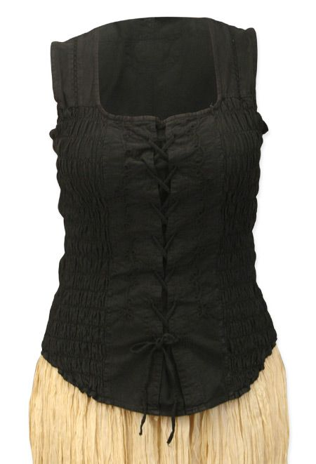 I think it needs to be in Chocolate brown - Catarina Ruched Cotton Tank - Black [003466S]