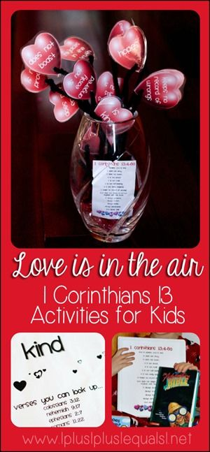 Love Activities for Kids Based on 1 Corinthians 13 {with printables}Vday