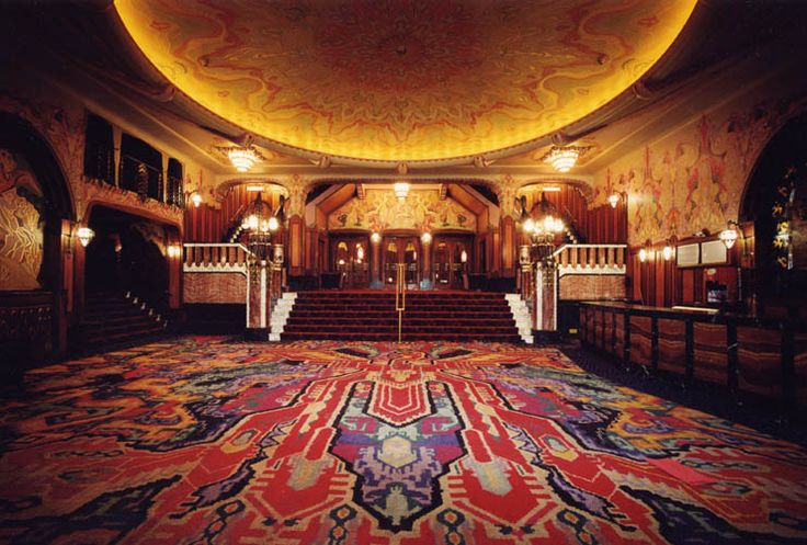 Tuschinski Foyer..I love this place. I once lost a contact lense here because I cried during a film & brushed it from my eye.. A wonderful usher helped me find it..luckily I was in a box, so lots of people didn't push by
