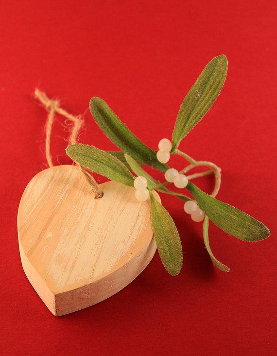 Rustic Timber Heart Tree Ornament by ALittleBitOfLemon on Etsy