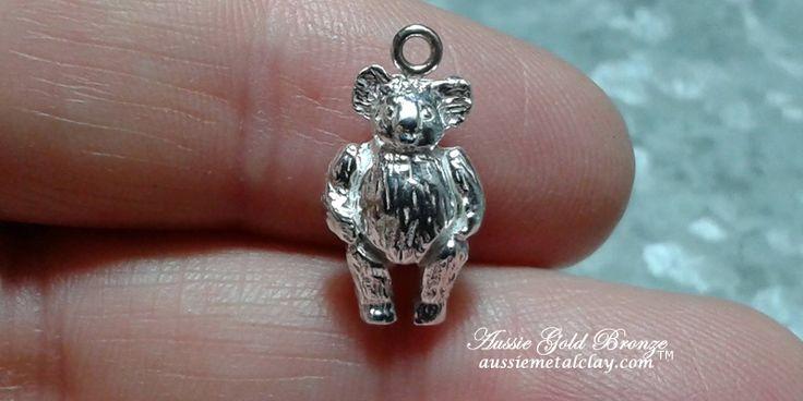 Aussie Metal Clay by Kim Booklass Koala hand sculpted