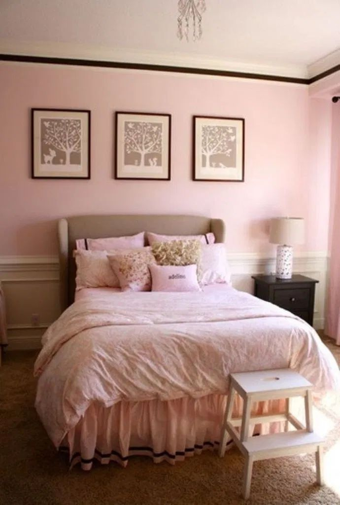 50 light pink bedroom ideas in 2020 with images big on cute bedroom decor ideas for teen romantic bedroom decorating with light and color id=99589