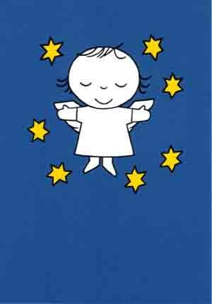 Design Dick Bruna. Engeltje met sterren. Uitgave op postkaart