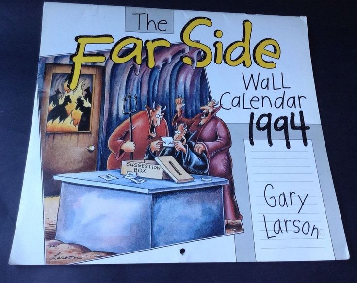 The Far Side Gary Larson Vintage Wall Calendar 1994 No Writing On