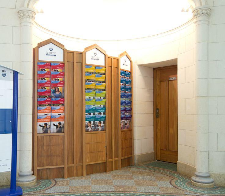 Auckland University Clock Tower Literature Display