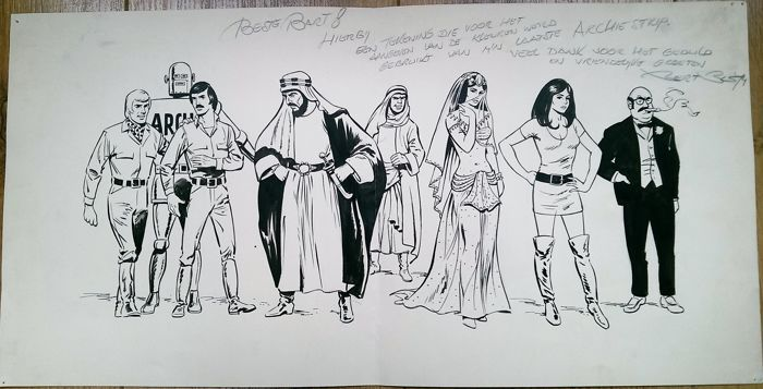 Bus, Bert - Originele tekening - Archie, de man van staal - (1974) - W.B.