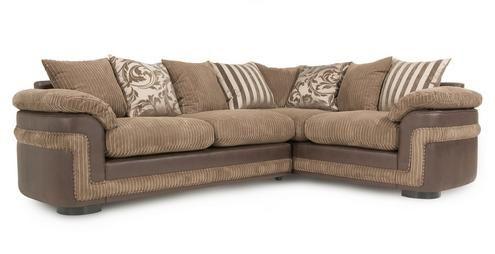 Destiny Left Hand Facing Pillow Back 2 Seater Corner Sofa Eternal | DFS