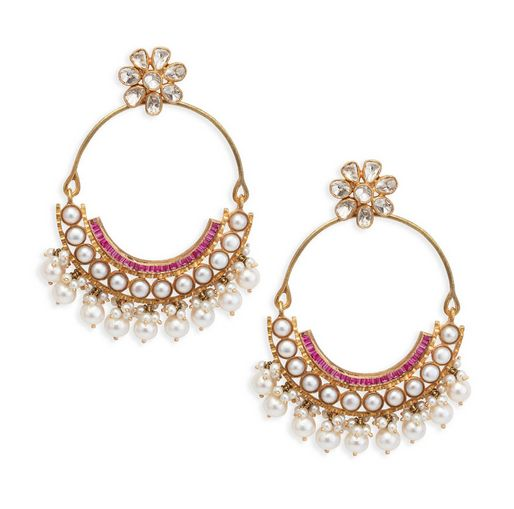 Anita Dongre pearl and diamond earrings from the Pinkcity collection.