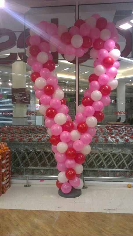 Balloon Arch Heart Shaped for Mothers Day #balloonarch