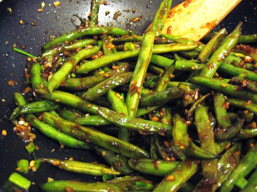 Szechwan-style Green Beans. I could eat buckets of these beans lol