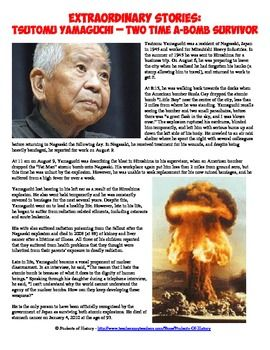 Special flash freebie! in honor of the anniversary of the Nagasaki bombing, this amazing Hiroshima and Nagasaki 2x Atomic Bomb Survivor Worksheet is free today (8/9) only!