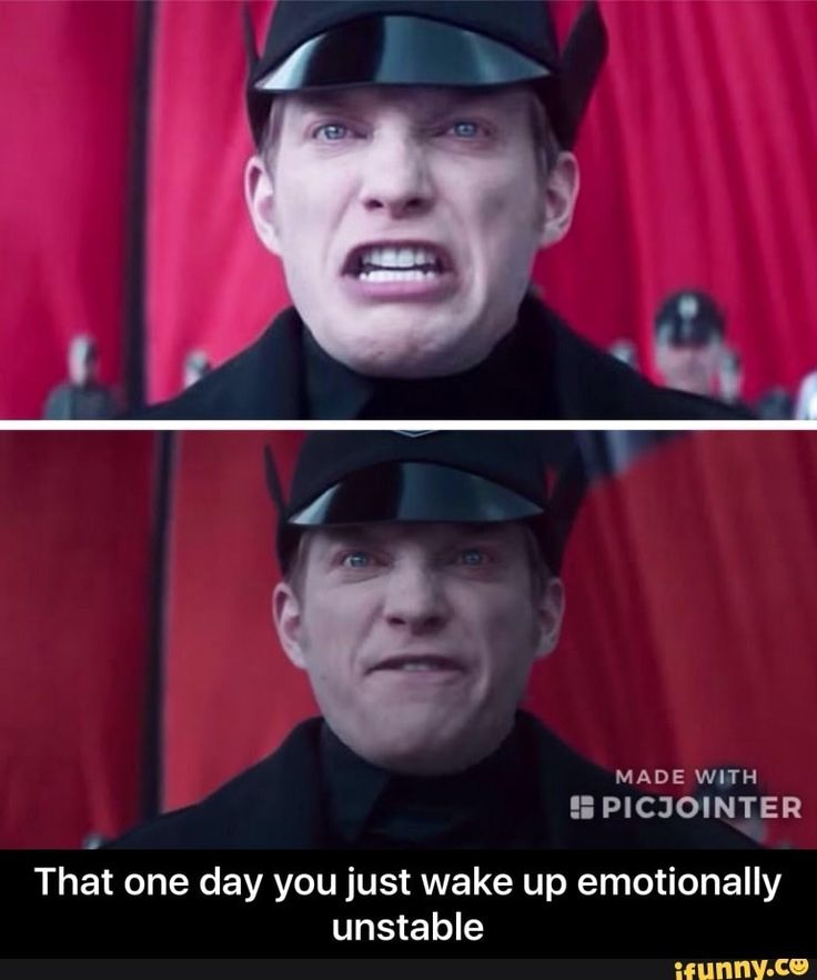 That one day you just wake up emotionally unstable #starwars #generalhux #theforceawakens