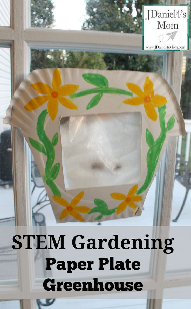 STEM Gardening Paper Plate Greenhouse- Kids will love creating this home for seeds and getting to watch them grow.
