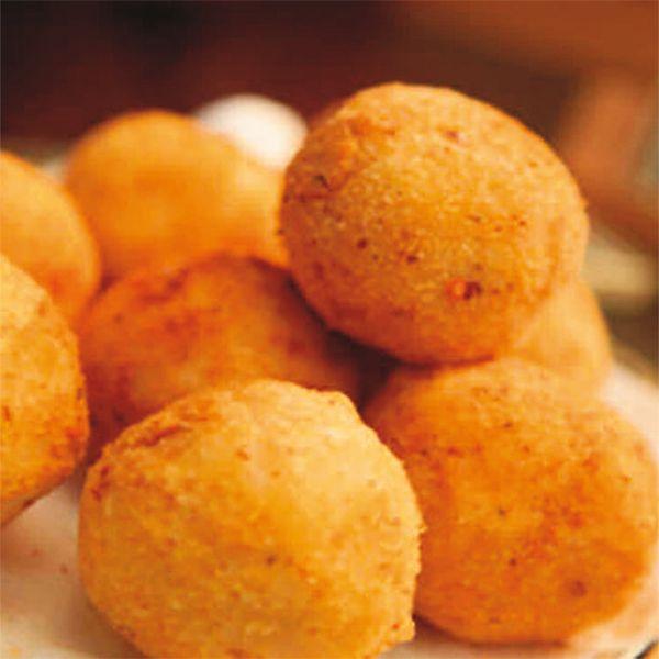 Polpettine di baccalà e patate.