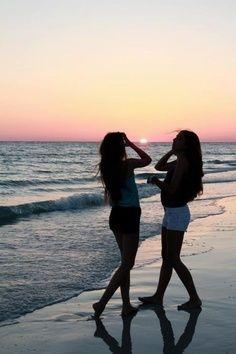 Beach Friends Photography Summer Sunset Ocean Girls With Ayu