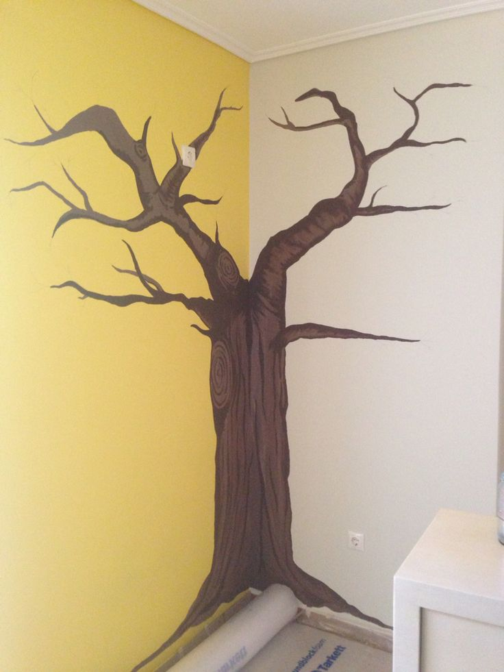 #mural #wall_paint #tree #paint #art #feel_creative #decor #home #baby_room #ideas