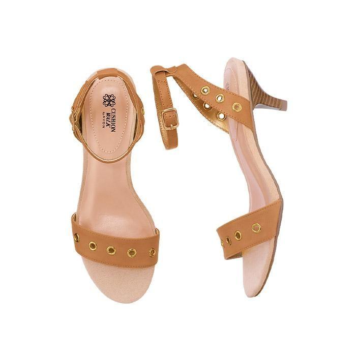 Cushion Walk® Marilyn Kitten Heel Sandal | AVON. The sidewalk is your runway in these versatile neutral, on-trend kitten heels.
