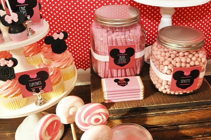 Vintage Minnie Mouse Party via Kara's Party Ideas | Kara'sPartyIdeas.com #Vintage #MickeyMouse #Party #Idea #Supplies (18)
