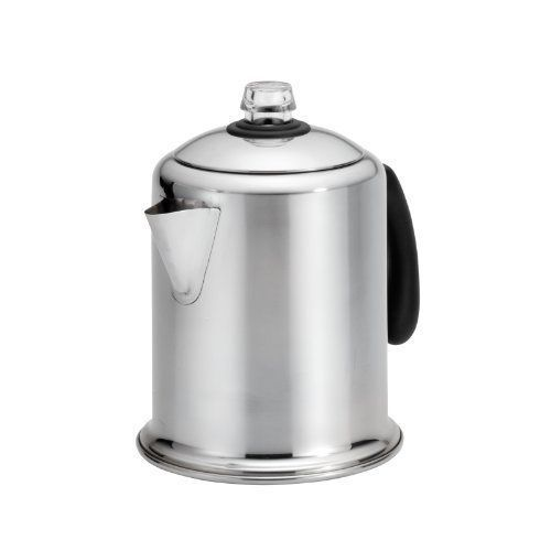 Coffee Maker 8 Cup Stainless Steel Modern Home Kitchen Durable Percolator #Unbranded