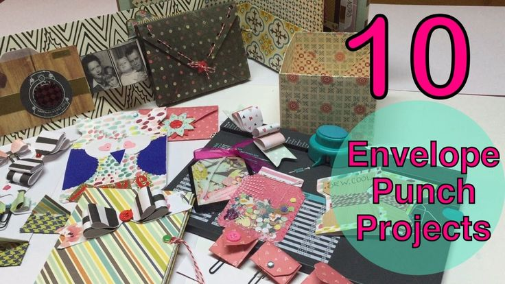 Today We go over 10 projects you can make with your envelope punch! I wasn't able to fit these all into one video, so there are 2 parts. You can choose the p...