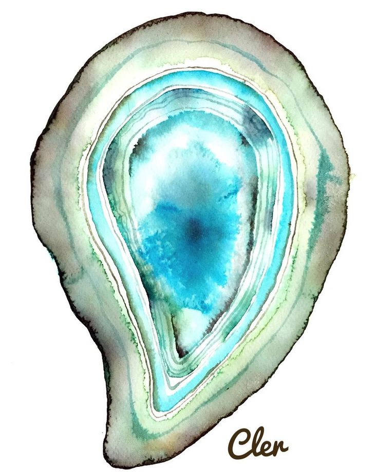Geodas 🙏🏼💖💎 @clerilustracion .  .  .  .  .  #clerilustracion #geoda #gemstone #illustration #watercolor #paiting #gem #acuarela #art  #nature #stone#blue #turquoise #green