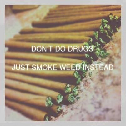 don't do drugs, just smoke weed instead