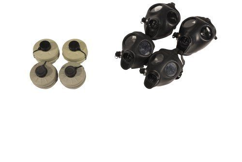 Gas Mask Family Kit Two (2) Adult + Two (2) Children Gas Mask w/ Original Sealed Type 80 Filter, by IDF - Israeli Defense Force. $99.90. This product includes :  2 Adult Israeli gas masks  2 Child size Israeli gas masks 4 sealed NBC Filter Type 80 ( Original with this masks). Save 17%!