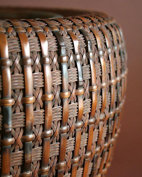 Maeda Chikubosai I (1872-1950), Hibachi Brazier - Japanese Bamboo Basket -