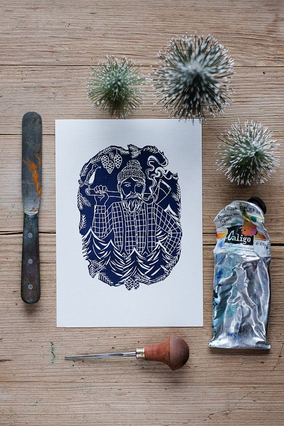 The Woodcutter  print by TracesOfMagicReigate on Etsy