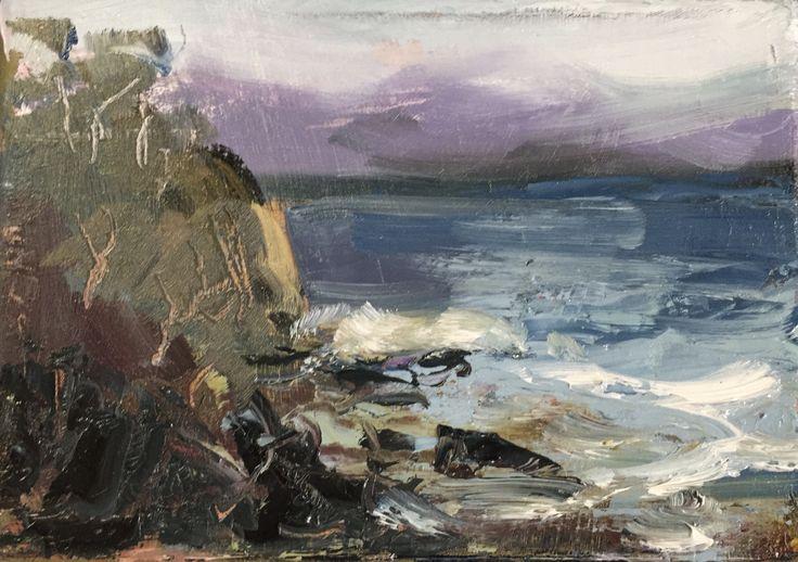 Blackmans Bay Series Oil on canvas, 17.5 x 13cm