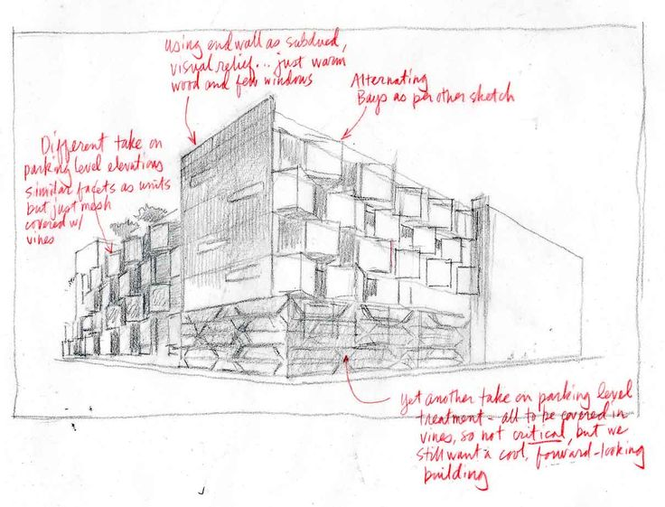Multi-unit housing for a Boston suburb. Hybrid traditional and digital architectural design technique.