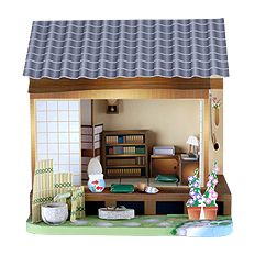 japanese doll house paper craft to print and put together: Japan Study, Printables Dollhouse Rooms, Paper Dollhouse, House Paper, Study Rooms, Japan Dollhouse, Dolls House, Japan Website, Paper House