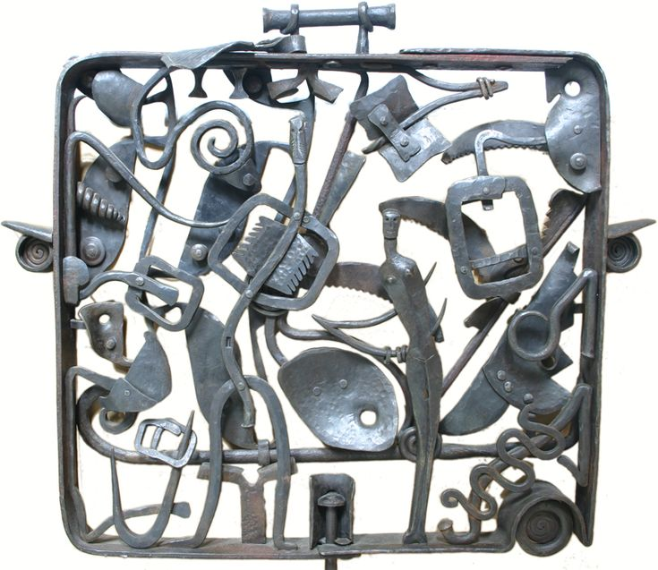 'Flight plan' by South African artist Robert Slingsby (b.1955). Forged steel. via the artist's site