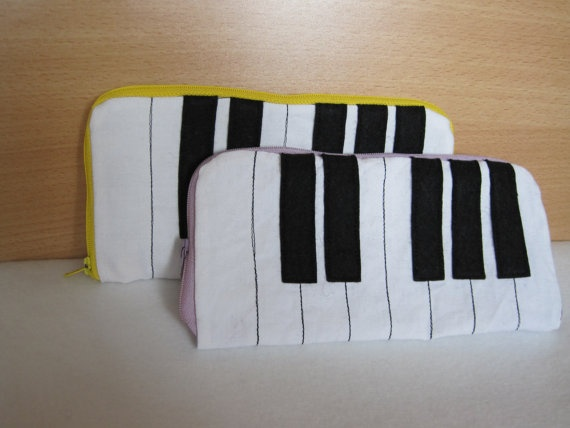 Piano keys pencil case by NewLifeBags on Etsy, $15.35