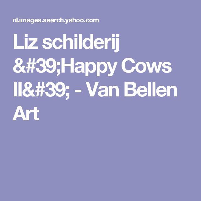 Liz schilderij 'Happy Cows II' - Van Bellen Art