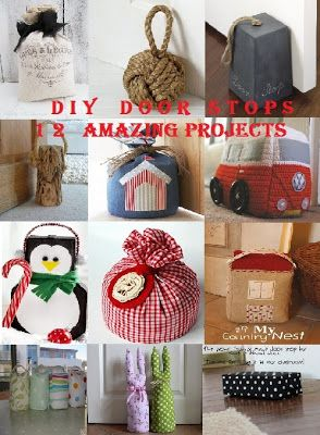 DIY Door Stops. I've needed something like this for a while